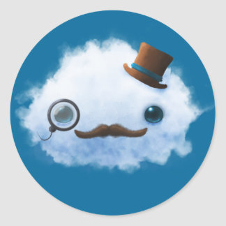 Dapper Cloud Classic Round Sticker
