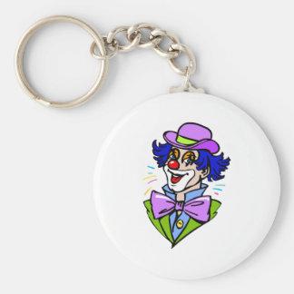 Dapper Clown Head Basic Round Button Keychain