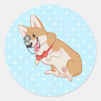 Dapper Corgi Sticker