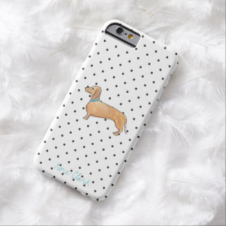Dapper Dachshund Dots Barely There iPhone 6 Case