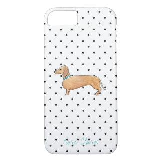 Dapper Dachshund Dots iPhone 7 Case