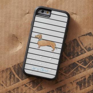 Dapper Dachshund Stripes iPhone 6 Case
