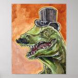 Dapper Dinosaur Poster