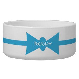 Dapper Dog Blue BowTie Personalized Bowl