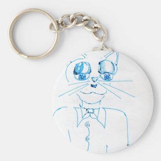 Dapper Felidae Basic Round Button Keychain