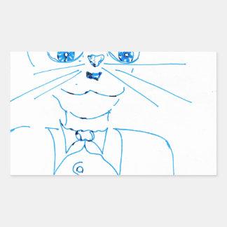 Dapper Felidae Rectangular Sticker