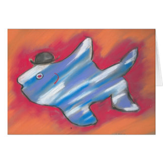 Dapper fish notecard