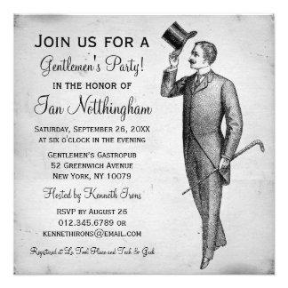 Dapper Gentlemen s Party Invitations