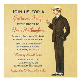 Dapper Gentlemen's Party Invitations