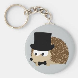 Dapper Hedgehog Basic Round Button Keychain