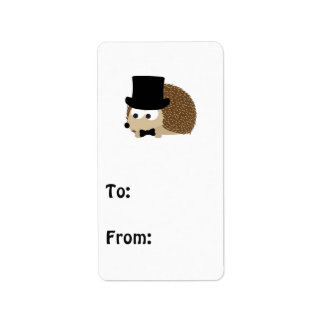 Dapper Hedgehog Label