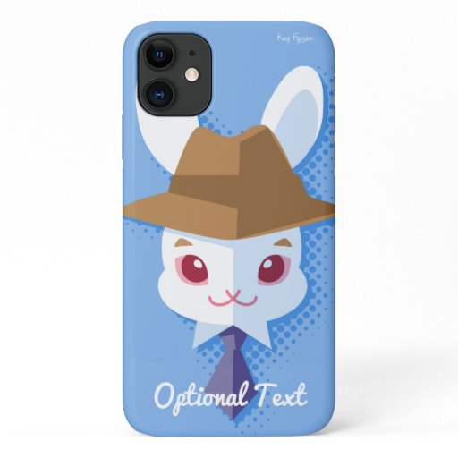 Dapper Kawaii White Rabbit iPhone 11 Case