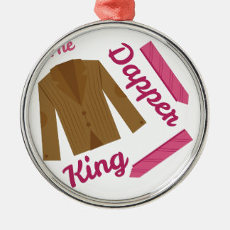 Dapper King Round Metal Christmas Ornament