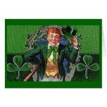 Dapper Leprechaun Vintage St. Patrick's Day Greeting Card