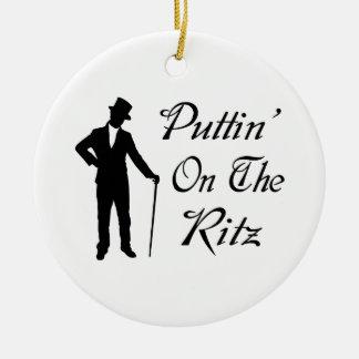Dapper Man Puttin On The Ritz Ceramic Ornament