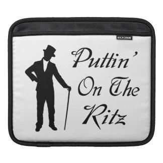 Dapper Man Puttin On The Ritz iPad Sleeve