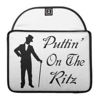 Dapper Man Puttin On The Ritz MacBook Pro Sleeve