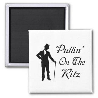 Dapper Man Puttin On The Ritz Magnet