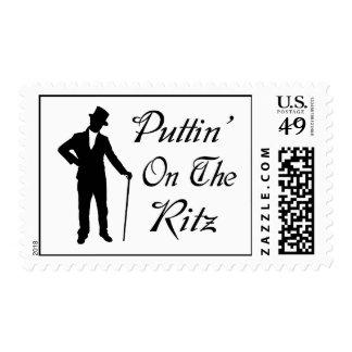 Dapper Man Puttin On The Ritz Postage Stamp