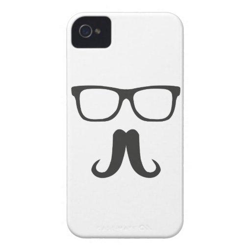 Dapper Mustache iPhone 4 Covers