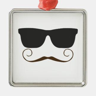 Dapper Mustache Metal Ornament