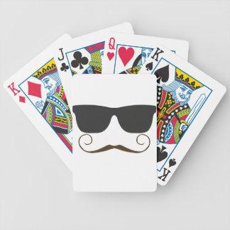 Dapper Mustache Poker Cards