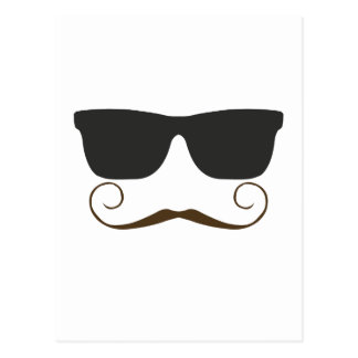 Dapper Mustache Postcard