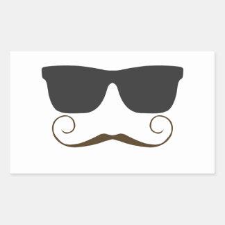 Dapper Mustache Rectangular Sticker