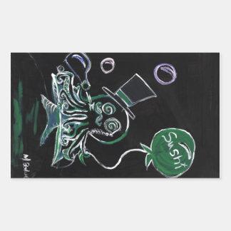 Dapper Octopus (full design) Rectangular Sticker