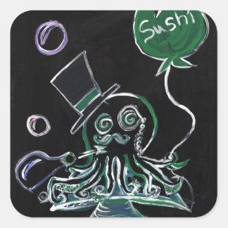Dapper Octopus (full design) Square Sticker