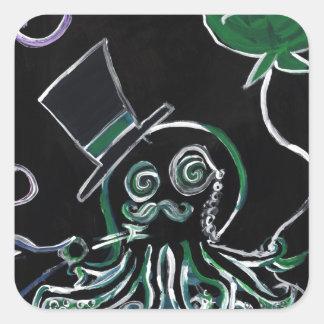 Dapper Octopus Square Sticker