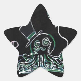 Dapper Octopus Star Sticker