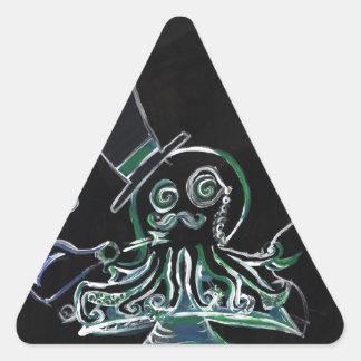 Dapper Octopus Triangle Sticker