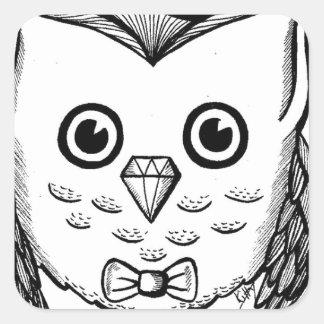 Dapper Owl Square Sticker