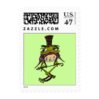 DAPPER PARTY PAD DANCING FROG FESTIVE STAMPS