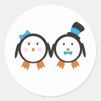 Dapper Penguin Couple Sticker