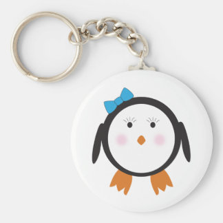 Dapper Penguin Girl Shirt Keychain
