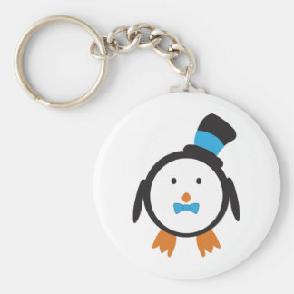 Dapper Penguin in Top Hat Keychain
