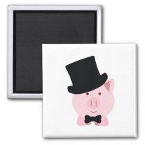Dapper Pig Magnet