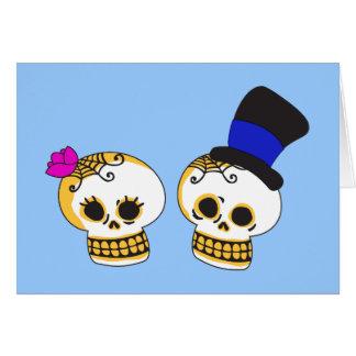 Dapper Skeleton Couple Card