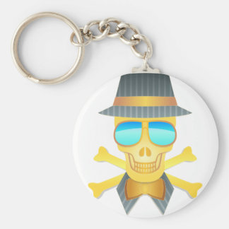 Dapper Skull Keychain