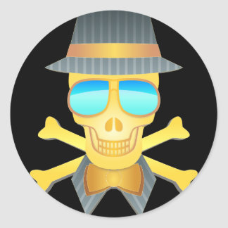 Dapper Skull Stickers