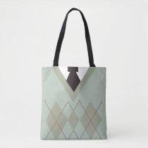 Dapper Style Sweater Tote Bag