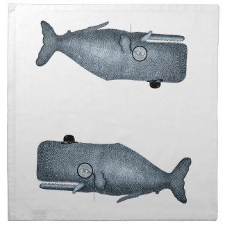 Dapper Whales napkins