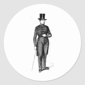 Dapper Young Gentleman Classic Round Sticker