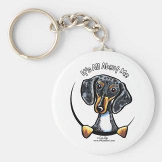 Dapple Dachshund Its All About Me Basic Round Button Keychain