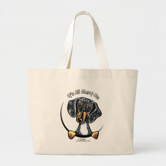 Dapple Dachshund Its All About Me Large Tote Bag