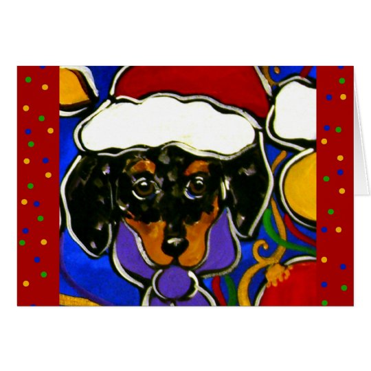 Dapple Doxie Christmas Card