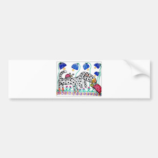 Dapple Doxie in the Bluebells Bumper Sticker