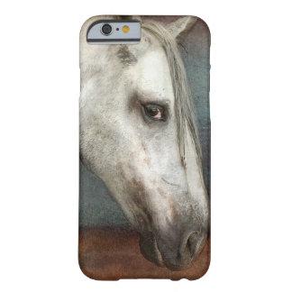Dapple el retrato andaluz gris del caballo funda de iPhone 6 barely there